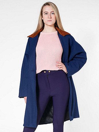 Petite Unisex Long Wool Coat