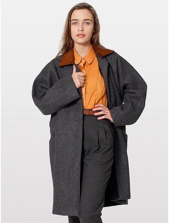 Petite Long Wool Coat