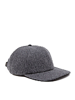 Wool and Suede Cap