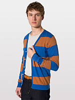 Cotton Wide Stripe Jersey Cardigan