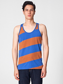 Cotton Wide Stripe Jersey Tank