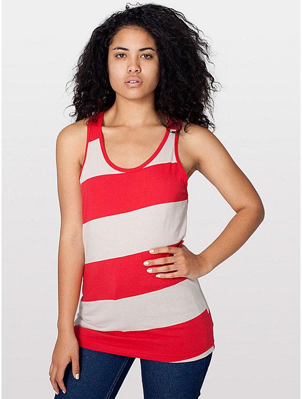 Unisex Cotton Wide Stripe Jersey Tank