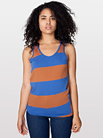 Unisex Cotton Wide Stripe Jersey Tank