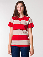 Unisex Cotton Stripe Jersey Short Sleeve Tab T-Shirt