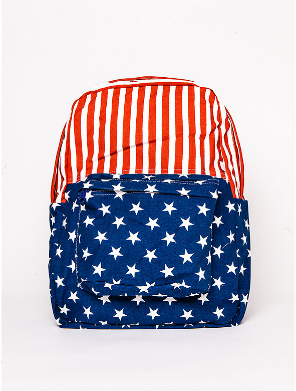US Flag Canvas School Bag