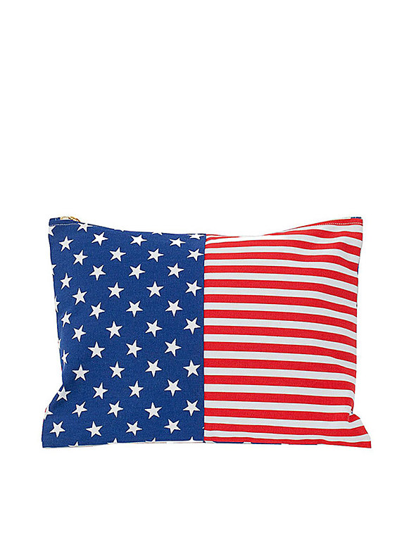 Large Stars & Stripes Printed Carry-All Pouch