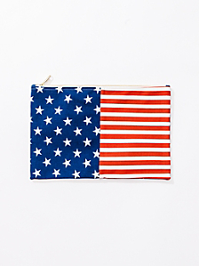 Medium Stars & Stripes Printed Carry-All Pouch