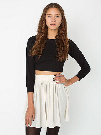 Silky Shirred Waist Skirt