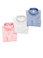 Pinpoint Oxford Long Sleeve Button-Up Shirt (3-Pack)