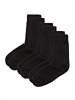 Lightweight Cotton Blend Calf-High Sock (3-Pack)