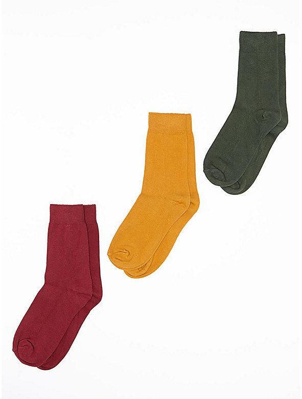 Lightweight Cotton Blend Calf-High Sock (3-Pack)