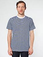 Poly-Cotton Stripe Crew Neck