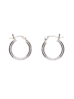 Silver Plated Earring Pair - 16MM Hoop