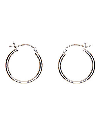 Silver Plated Earring Pair - 22MM Hoop