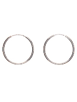 Silver Plated Earring Pair - 35MM Hoop