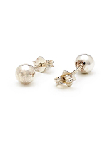 Silver Plated Earring Pair - 5MM Ball Stud