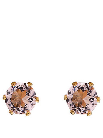 Champagne Crystal Gold Plated Stud Earrings