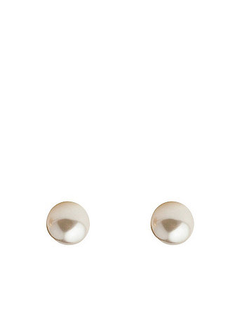 6mm Pearl Stud Gold Plated Post Earrings