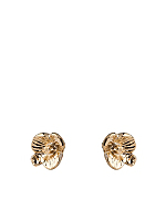 Flower Post Gold Plated Earrings