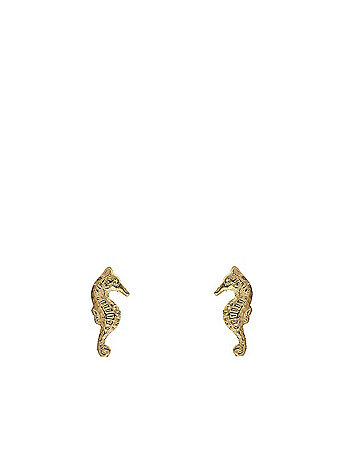 Gold Plated Earring Pair - Sea Horse