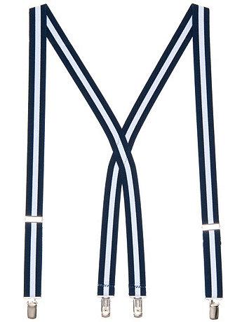 Unisex Stripe Suspender - 1 inch