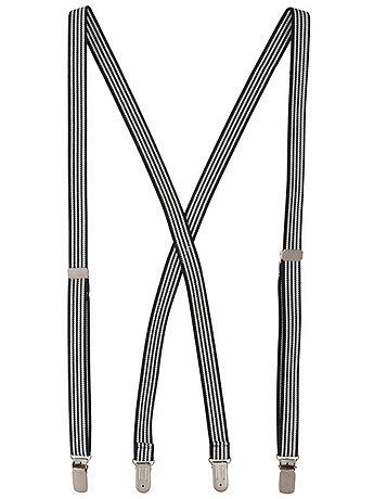 Unisex Stripe Suspender - 3/4 inch