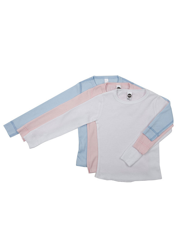 Kids' Baby Thermal Long Sleeve T-Shirt (3-Pack)