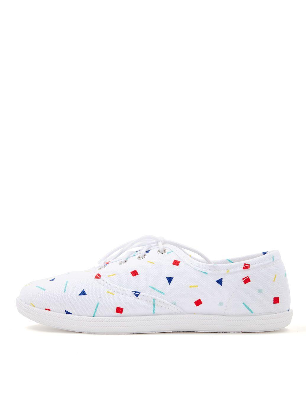 unisex printed tennis shoe american apparel