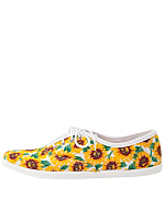 Sunflower Print Unisex Tennis Shoe