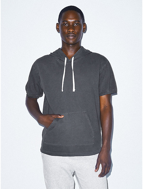 French Terry Short Sleeve Hoodie