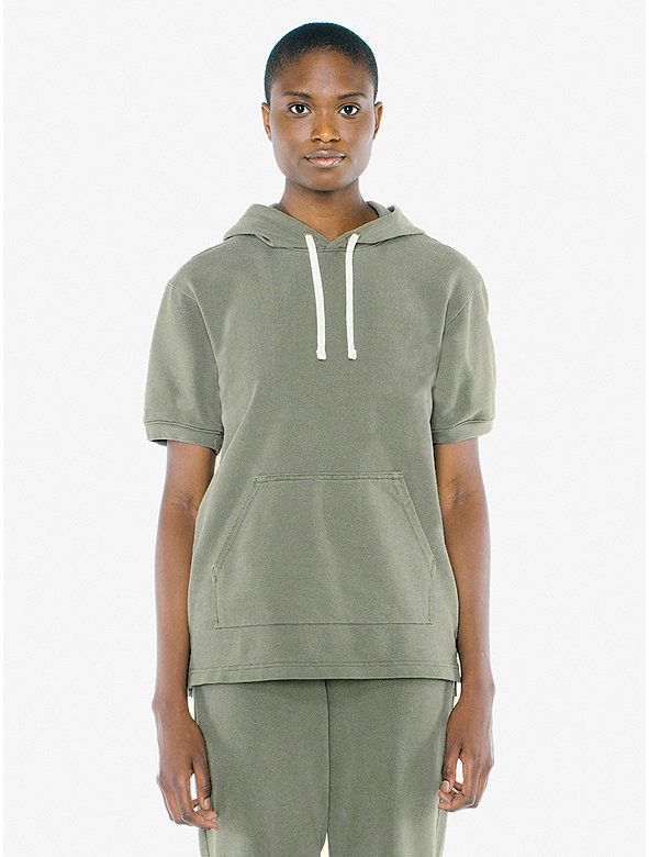 Unisex French Terry Short Sleeve Hoodie