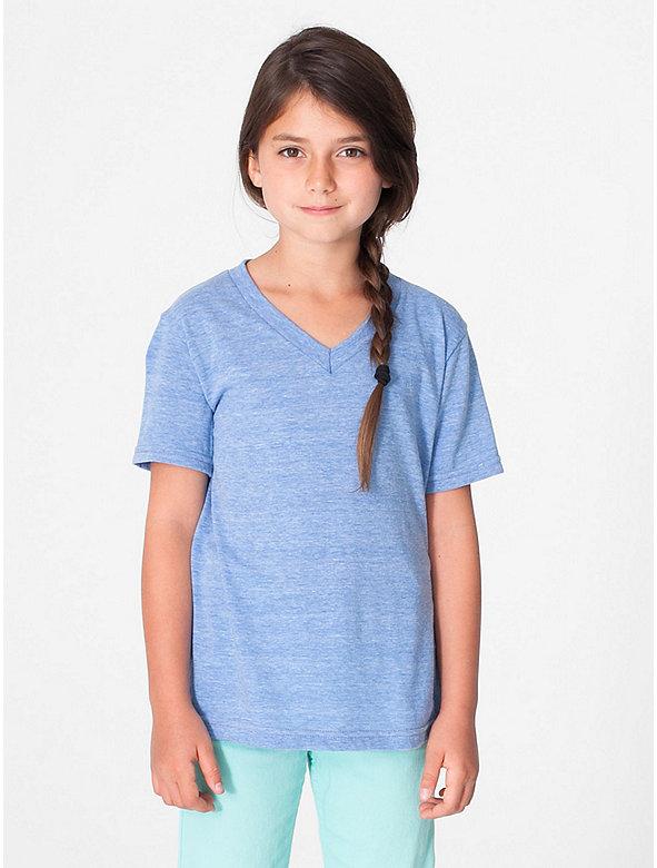 Kids' Tri-Blend V-Neck T-Shirt