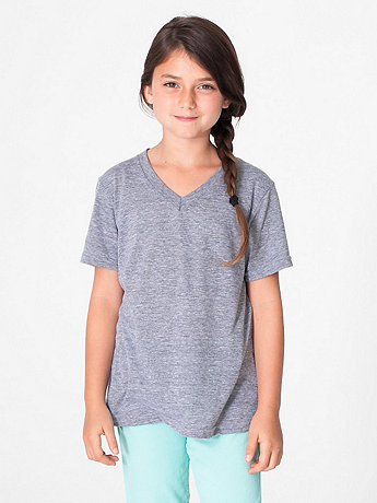 Kids' Tri-Blend V-Neck T-Shirt