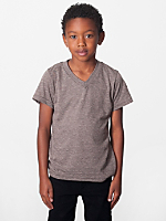 Kids Tri-Blend V-Neck T-Shirt