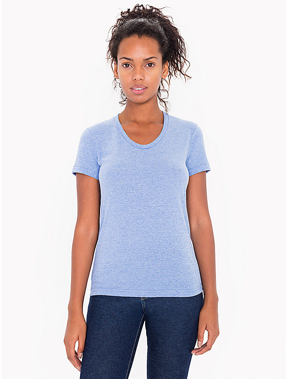 Tri-Blend Short Sleeve Women's Track T-Shirt
