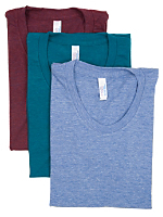 Tri-Blend Short Sleeve Women's Track T (3-Pack)