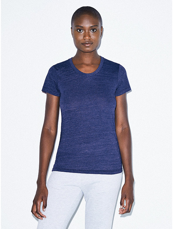 Tri-Blend Slim Fit Crewneck Track T-Shirt