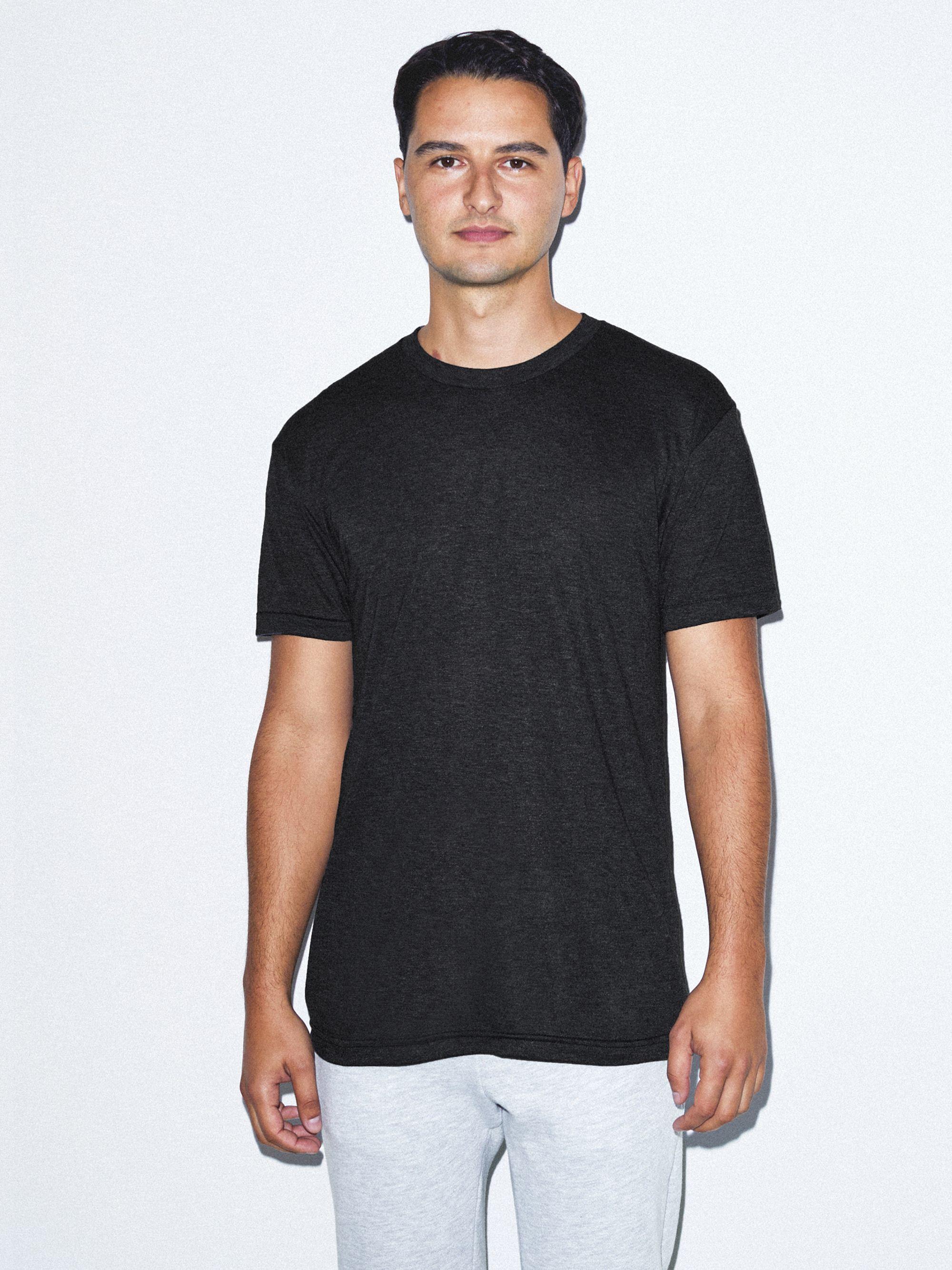 Tri-Blend Crewneck Track T-Shirt | American Apparel