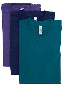 Tri-Blend Short Sleeve Track T-Shirt (3-Pack)