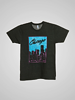 Screen Print Tri-Blend Track Shirt - Chicago