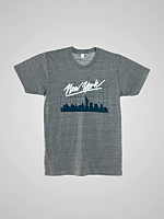 Screen Print Tri-Blend Track Shirt - New York