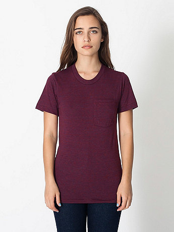 Unisex Tri-Blend Pocket Short Sleeve T-Shirt