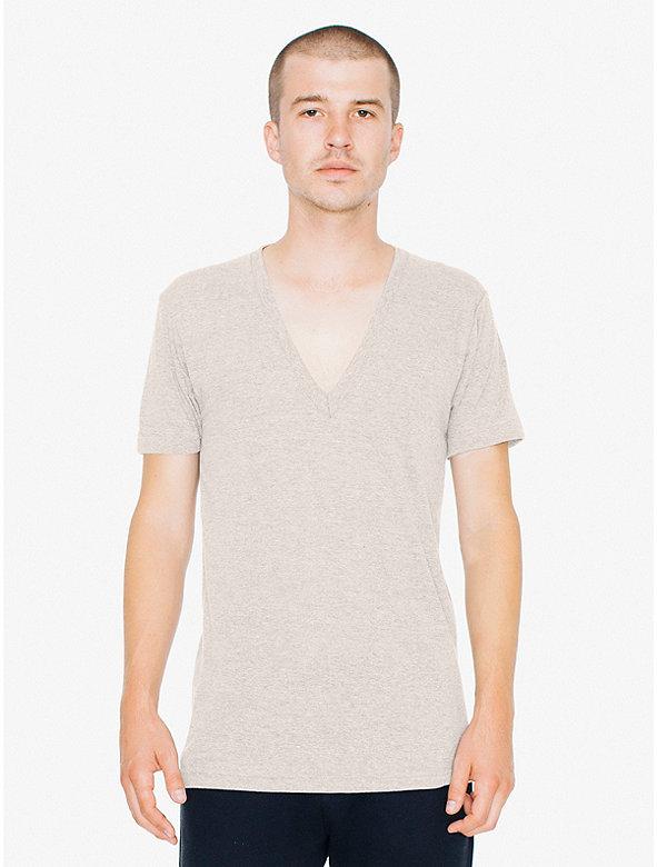 Tri-Blend Deep V-Neck T-Shirt