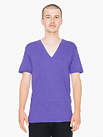 Tri-Blend Short Sleeve Deep V-Neck