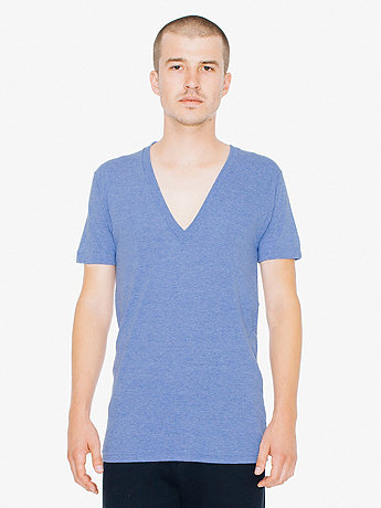 Unisex Tri-Blend Short Sleeve Deep V-Neck