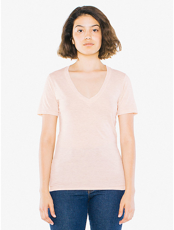 White V Neck Shirt For Women