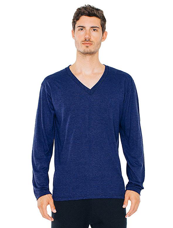 Tri-Blend V-Neck Long Sleeve T-Shirt