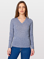 Unisex Tri-Blend Long Sleeve V-Neck