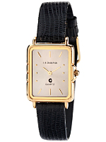 JB Champion Black Leather Ladies Analog Watch