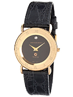 JB Champion Black Leather Men's Analog Watch